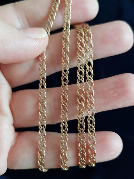 Цепочка золотая 585, вес 10,31, длина 62 см, золото