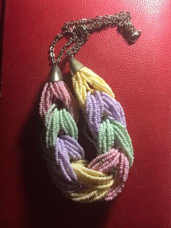 Ожерелье бисер коса колье украшение. Колье-чокер