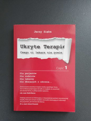 Nowa książka 'Ukryte Terapie' Jerzy Zięba