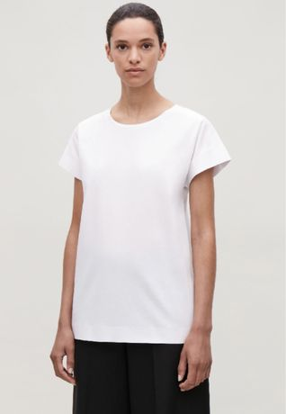Легкая коттоновая белая базовая футболка