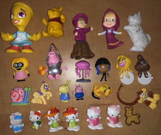 Kinder niespodzianka figurki Hello Kitty Masza niedźwiedź Świnka Peppa