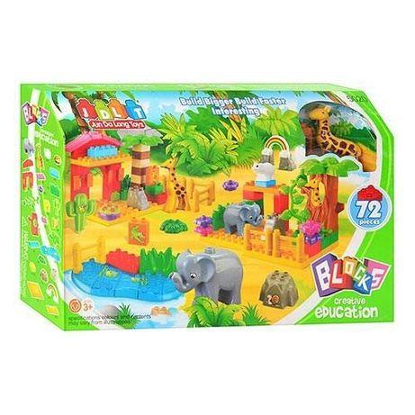Конструктор JDLT 5020 Зоопарк 72 дет Аналог LEGO DUPLO