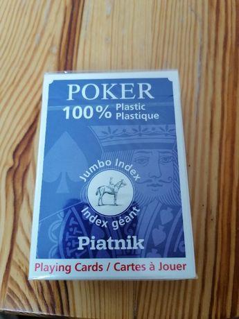 Karty Classic Poker Plastik duże indeksy PIATNIK nowe