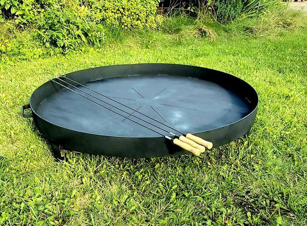 Przenośne palenisko ogrodowe okrągłe średnica 80cm trójnóg blacha 4mm