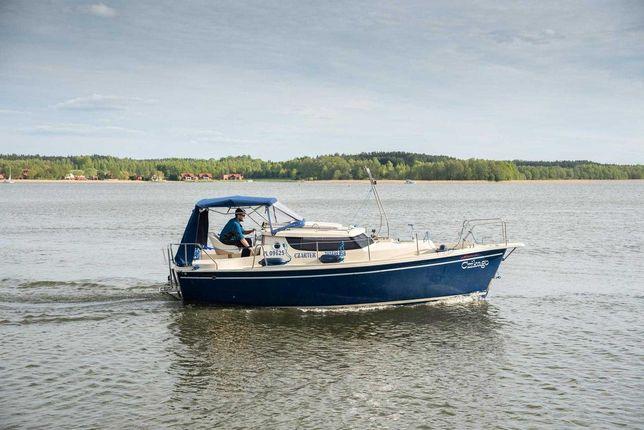 Łódź motorowa kabinowa Sunhorse 25 houseboat 2008 silnik Yanmar 25 km