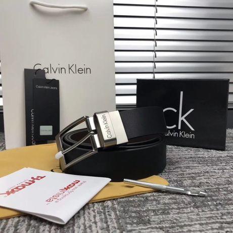 Мужской ремень Calvin Klein в подарочном наборе чоловічій набір/ремінь