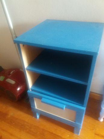 Mesa de cabeceira ikea azul