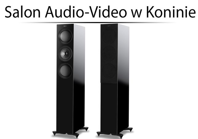 Kef R5 Black Gloss - Kolumny podłogowe - OD RĘKI - Instal Audio Konin