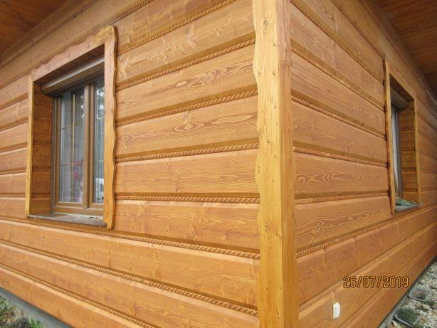 płaz drewniany z warkoczem 25 cm szer. grub.35 kąt 70 stopni