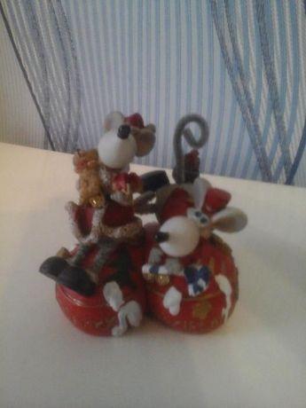 Копилка влюблённые мышки (сердечко) двойная,подарок на День Валентина