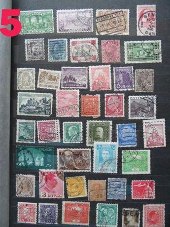 stare znaczki pocztowe przedwojenne wojenne powojenne kasowane