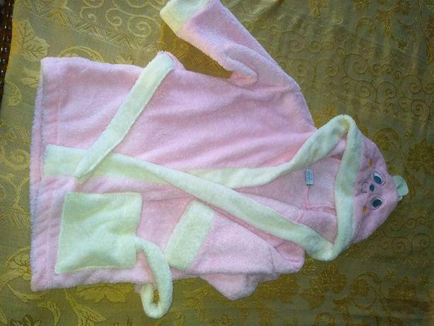 Халатик банний для дівчинки 3 роки