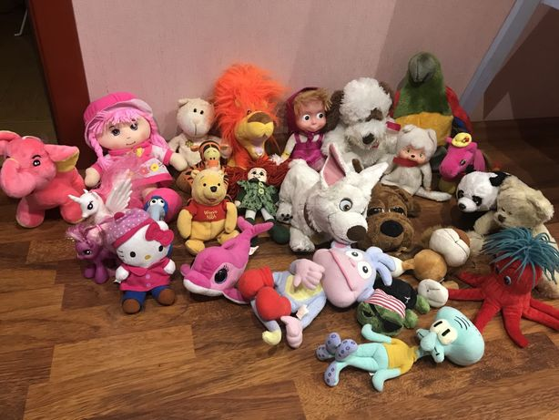 Мягкие игрушки: глазастик, тедди, винни пух, пони, мишка