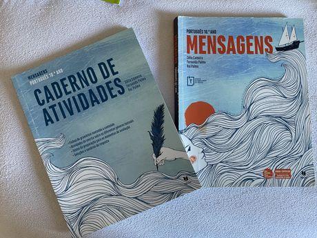 """Manual de portugues """"Mensagens"""" 10 ano"""
