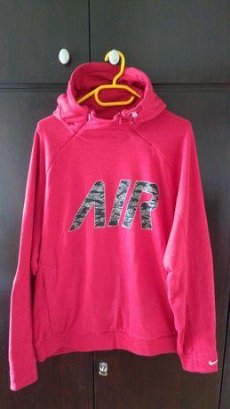 Bluza Nike ciemno czerwona kaptur zamek kieszeń 46/48