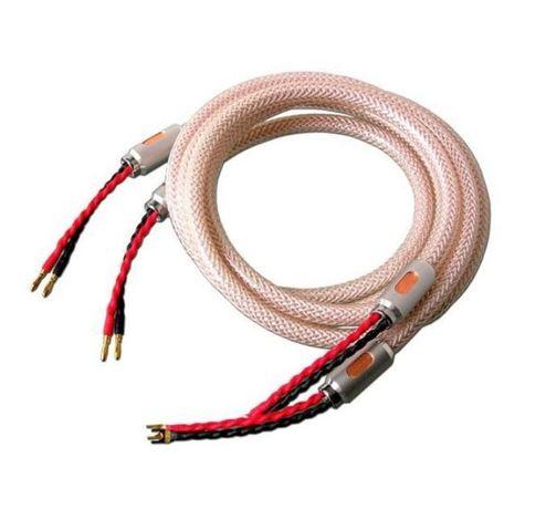 Kabel głośnikowy XINDAK LF-CU (2 BANANY NA 2 WIDEŁKI) 2x2,5m