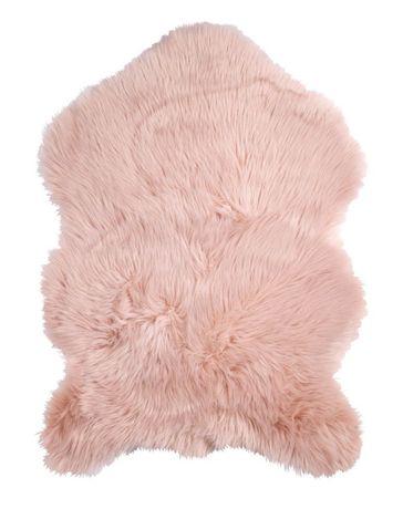 Коврик овчина розовый