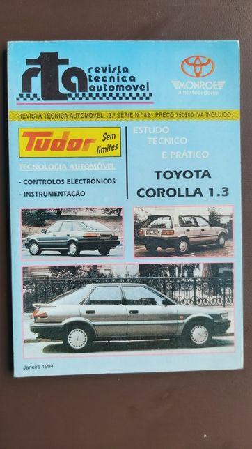 Toyota Corolla 1.3 Revista mecânica, manual mecânico oficina