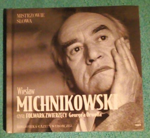 Folwark zwierzęcy -czyta Michnikowski Wiesław -książka + płyta CD-nowe