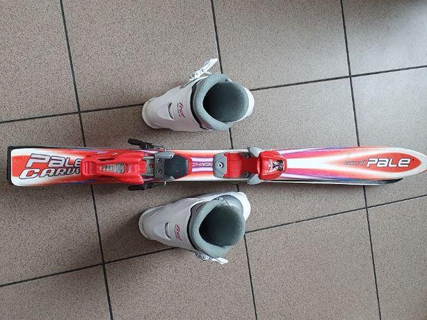 Narty dziecięce 90 cm + buty