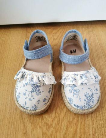 H&M jak nowe espandryle r. 24 25 cudne buciki dla dziewczynki buty