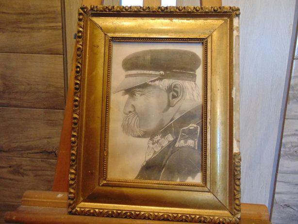 Art deco,reprodukcja z epoki,J.Piłsudski,lata 20 ub.w.,marszałek