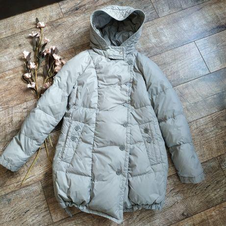 Объемный пуховик серого цвета от Savage на пуху куртка пуффер капюшон