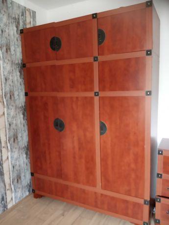 zestaw mebli (szafa,komoda,łóżko)