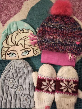 Czapki i rękawiczki dla dziewczynki 4-5 lat