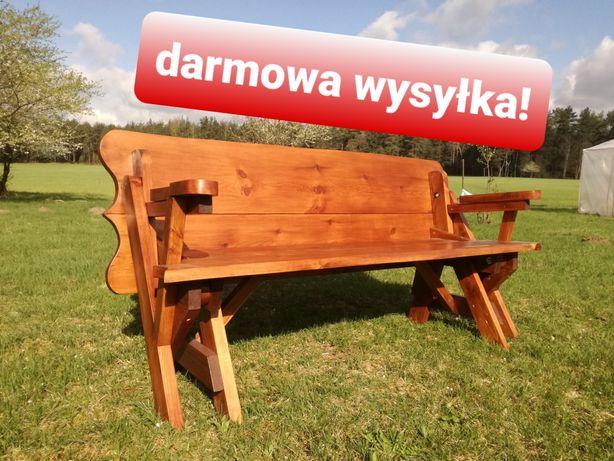 Ławka rozkładana‼️ Darmowa wysyłka‼️ 2w1, ławko-stół, ławka ogrodowa