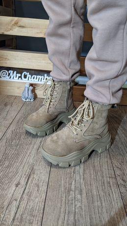 Хит! Женские зимние ботинки на платформе