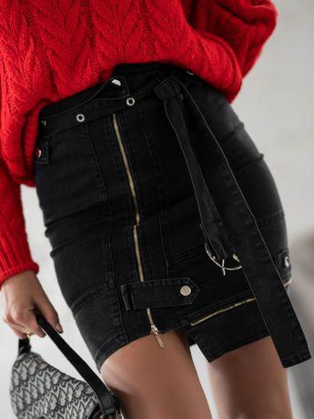 Spódnica Jeansowa Zippers O'LA VOGA - 2 kolory