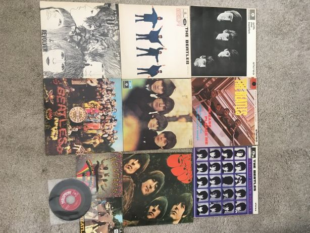 Lote de 11 discos vinil The Beatles