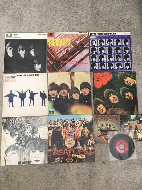 Lote de 5 discos vinil The Beatles