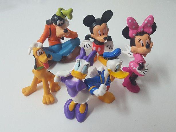 LU125 6 Miniaturas Mickey Mosuse Disney Donald Duck Bonecos