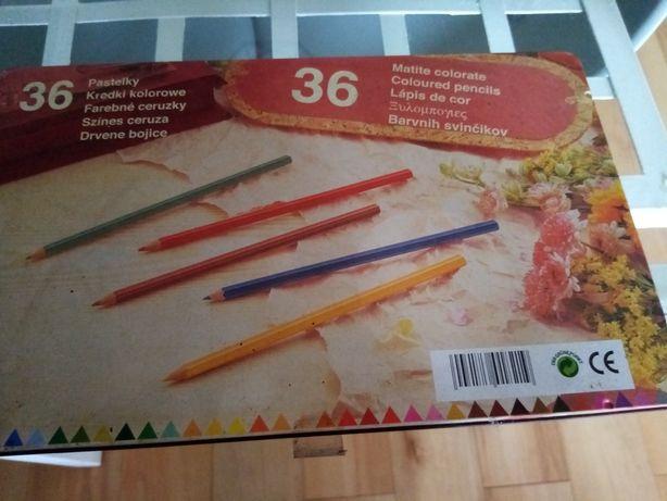 36 lápis de cor em caixa de alumínio, pastel.