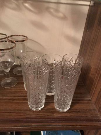 Хрустальные стаканы 5 шт