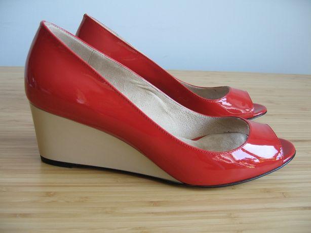 MAXMARA Francia czerwone buty 39 MAX MARA włoskie