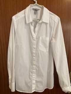 Camisa Branca de Senhora com Bolso