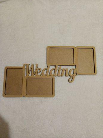 Деревянная свадебная фоторамка заготовка