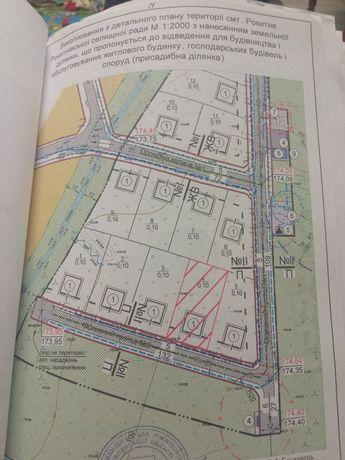 Продам земельну ділянку 10 соток смт Рокитне