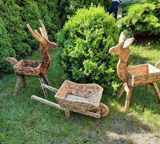 Taczka ogrodowa meble ogrodowe drewno Dostępne od Ręki !!!