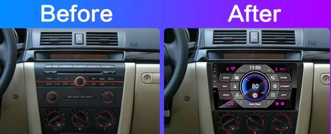 Магнитола система мультимедийная автомагнитола Mazda 3 2004-2009 -2013