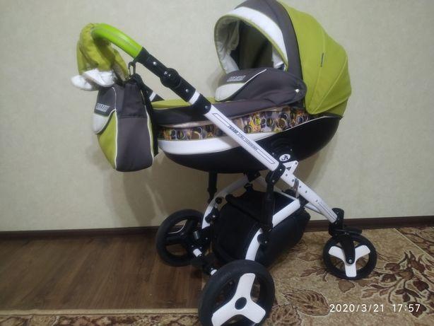 Дитяча коляска 2 В1 Angelina Sirius Turbo Drop салатова