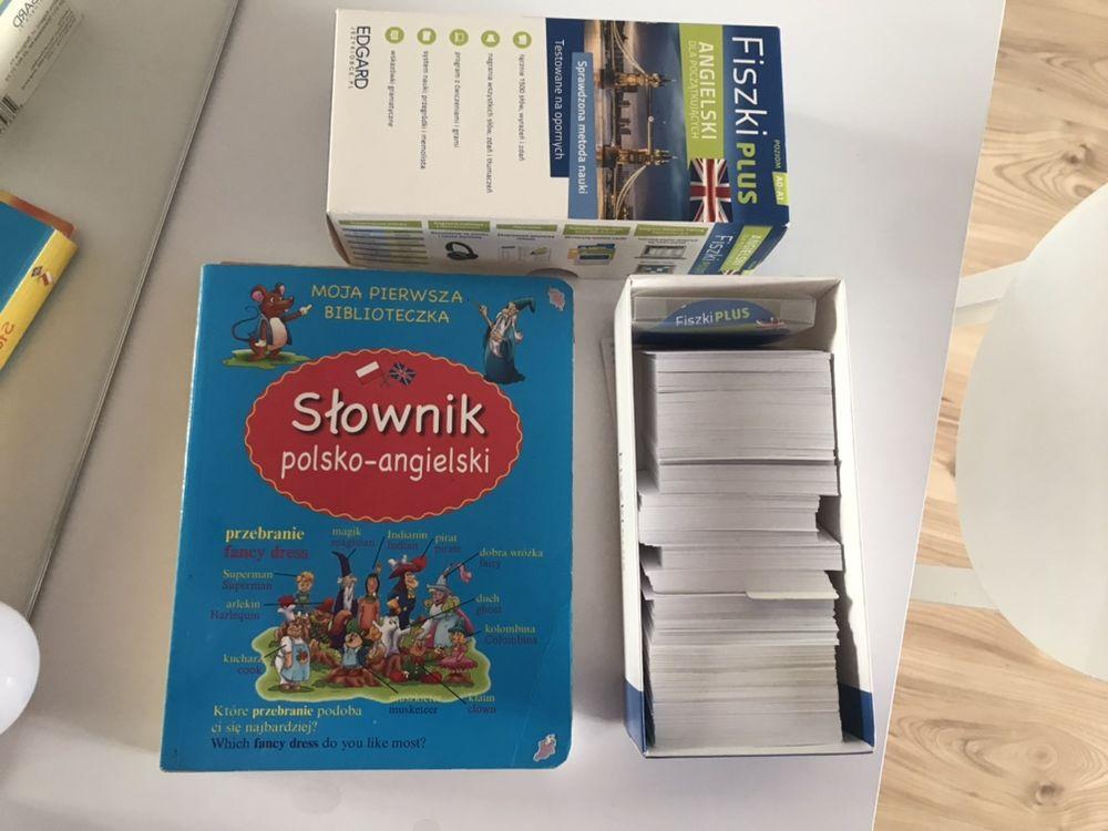 Zestaw słownik + fiszki język angielski