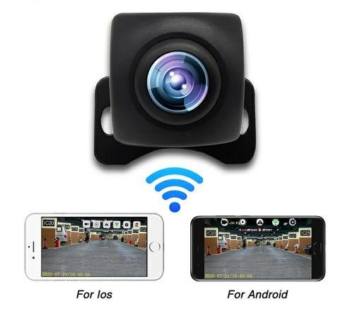 Câmera traseira p/ carro, Mota Wi-Fi Sem Fios (Wifi) Android & Ios