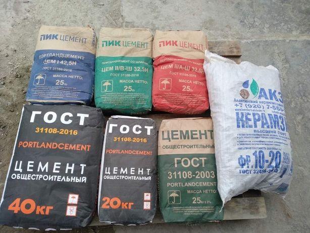 Цемент ГОСТ М 400 (20, 40кг)