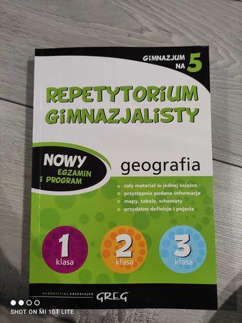 """Repetytorium gimnazjalisty z wydawnictwa """"Greg"""" - geografia"""