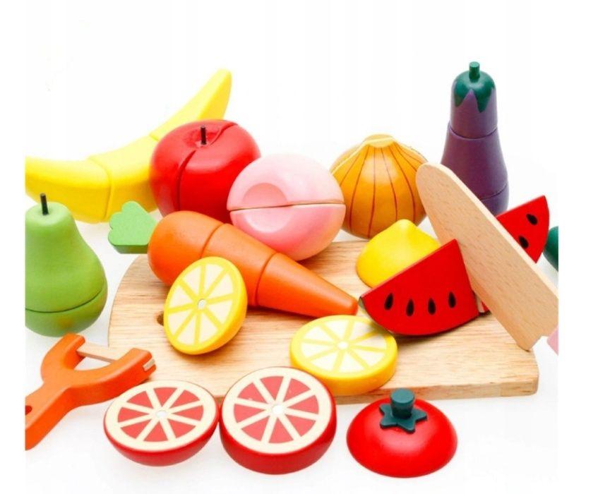 Klocki Drewniane Owoce Warzywa Do Krojenia Magnes Radom - image 1