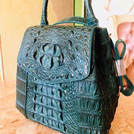 Рюкзак-сумка из кожи крокодила